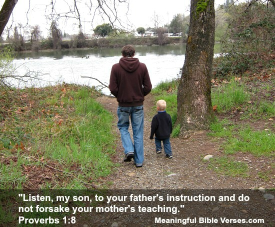 Dad Walking with Son