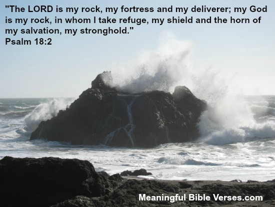 Rock in Ocean Representing God