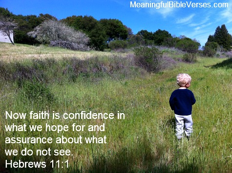 Faith definition from hebrews 11 1
